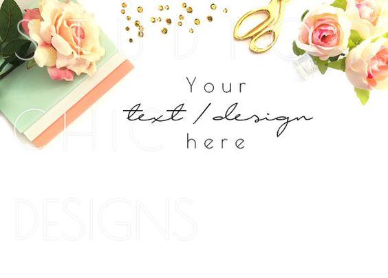 Feminine Desktop Image  Product Background от StudioChicDesigns