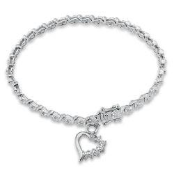 Sterling Silver, Diamond Accent Fashion Bracelet