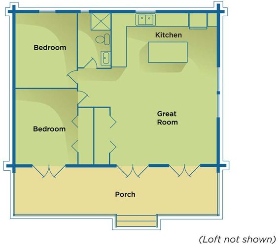 Cabin floor plans floor plans and cabin on pinterest - Savvy small apartment kitchen design layout for perfect kitchen with great efficiency ...