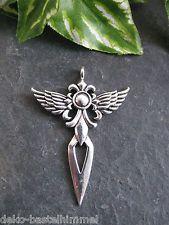 Metallanhänger Fleur de Lis mit Flügel, 4,7 cm in silber, Anhänger für Ketten