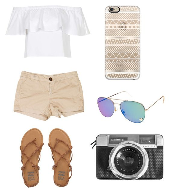 Spring Outfit by teresa2406 on Polyvore featuring Topshop, Current/Elliott, Billabong and Casetify