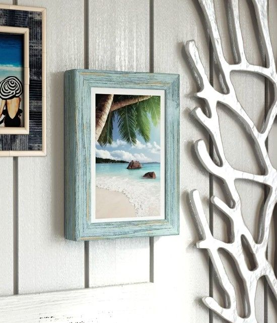 Rustic Wood Beach Picture Frames Wall Decor Ideas With Images