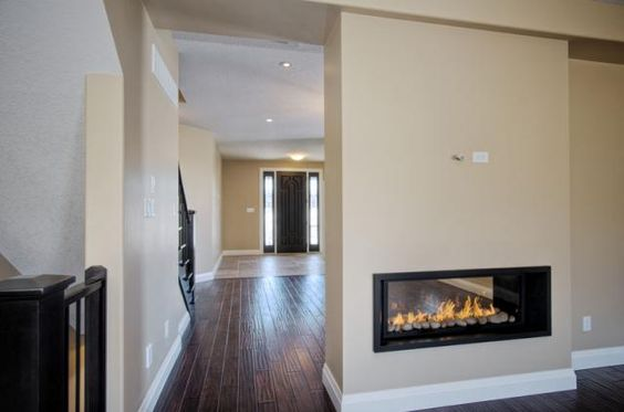 Two Sided Fireplace Designs | Mapleridge Two Sided Gas Fireplace | Hawksview Homes