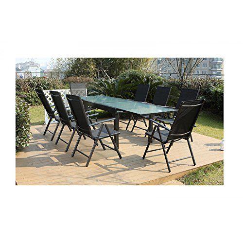 Mon Usine Le Velia Salon De Jardin En Aluminium 8 Personnes Salon De Jardin Encastrable Salon De Jardin Salon De Jardin Aluminium