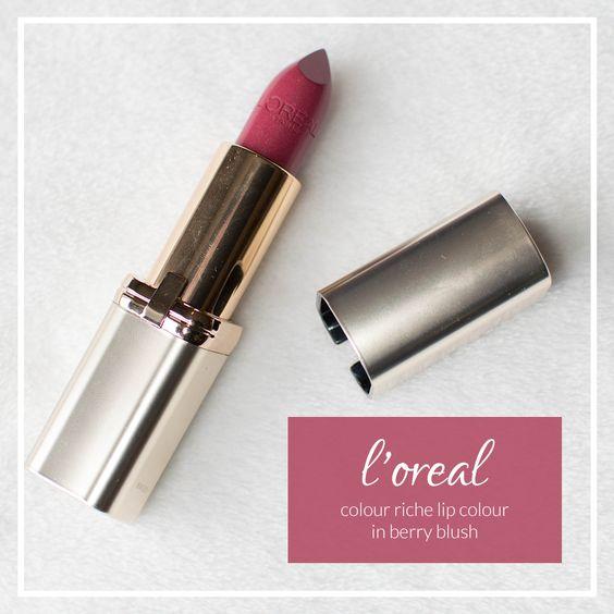 l'oreal colour riche lip colour in berry blush | Lipstick and Lullabies