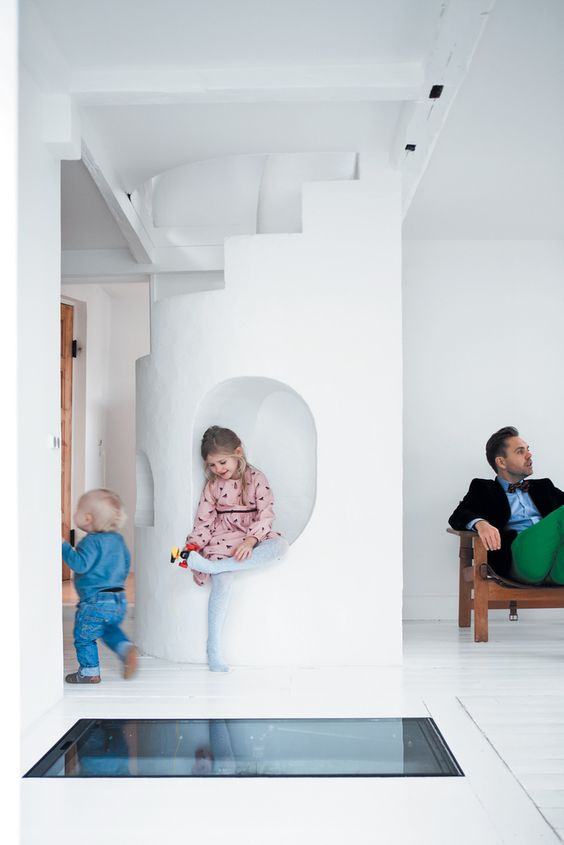 Stairs with fun built-in nook