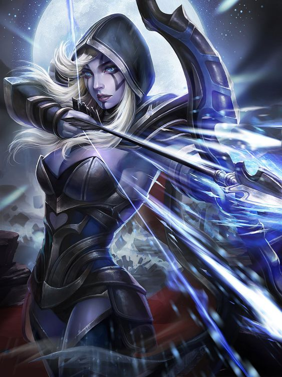 Drow Ranger, Yangjie Du on ArtStation at https://www.artstation.com/artwork/drow-ranger-f222dd84-af36-40c7-a65f-8a420cccf9cf