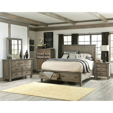"""Legacy """"Brownstone Village"""" Collection 6-piece Queen Bedroom Set   Brownstone Village speaks to the curator, collector and designer in all of us. It recalls traveling, collecting, and rearranging newly discovered treasures with those passed down and those found along the way. The look is comfortable and uncomplicated in an aged patina finish on oak veneers."""