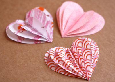 Fabric Hearts Garland