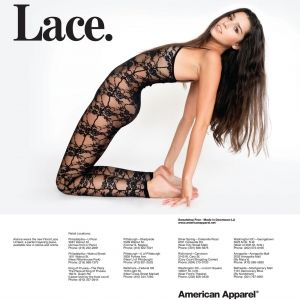 American Apparels New Model Is Just the Best Ever - This kid can WERK a PVC skirt.