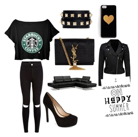 """#BLACK"" by jrdossantos ❤ liked on Polyvore"