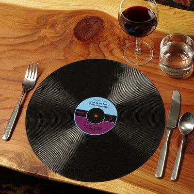 this would be a cool charger/placemat for a music themed party!:
