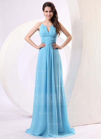 Special Occasion Dresses - $136.99 - A-Line/Princess Scoop Neck Floor-Length Chiffon Holiday Dress With Ruffle (020014279) http://amormoda.com/A-line-Princess-Scoop-Neck-Floor-length-Chiffon-Holiday-Dress-With-Ruffle-020014279-g14279