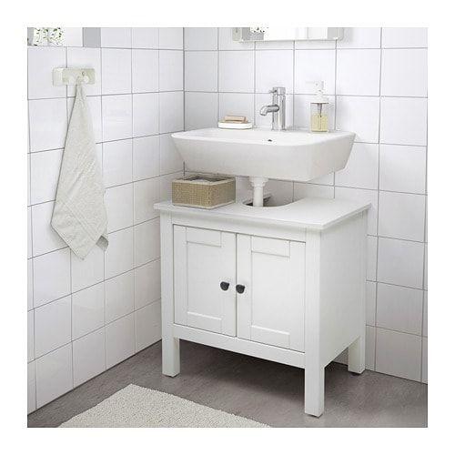 Hemnes Waschbeckenunterschrank 2 Turen Weiss Ikea Deutschland Pedestal Sink Storage Ikea Bathroom Inspiration