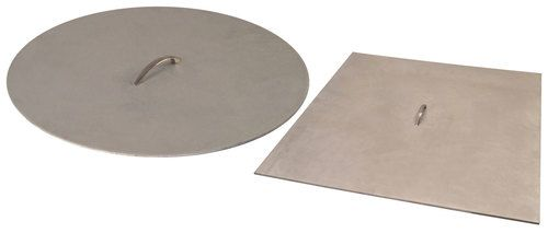 44 Inch X 3 16 Inch Brushed Aluminum Fire Pit Cover With Handle For 42 Inch Opening Fire Pit Cover Fire Pit Fire Pit Size