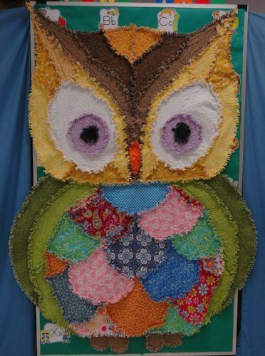 Rag Quilt Owl Pattern : Rag quilt, Owl and Shape on Pinterest