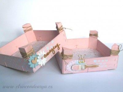 Tutorial cajas de fresas decoradas con chalk paint el - Manualidades pintar caja metal ...