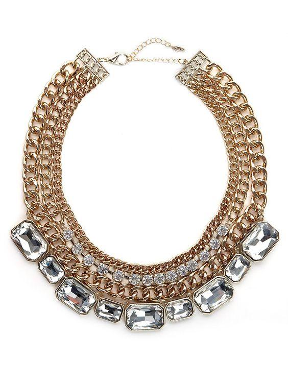 Gold Tier Gem Collar BaubleBar Insist on Awesome Blog