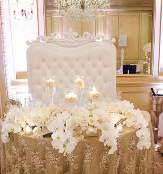 Table Flowers Sweetheart Table Ideas Wedding Sweetheart Table