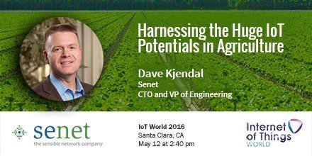 Senet @senetco: Senet CTO Dave Kjendal will be discussing #IoT productivity and efficiency at #iotworld16 http://www.senetco.com/events