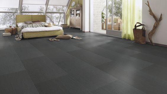 MEISTER Nadura Design-Boden NB 400 - Schiefer anthrazit 6220 - wohngesunder Boden aus 100 % Natur, strapazierfähiger als Fliesen und gleichzeitig fußwarm wie Parkett