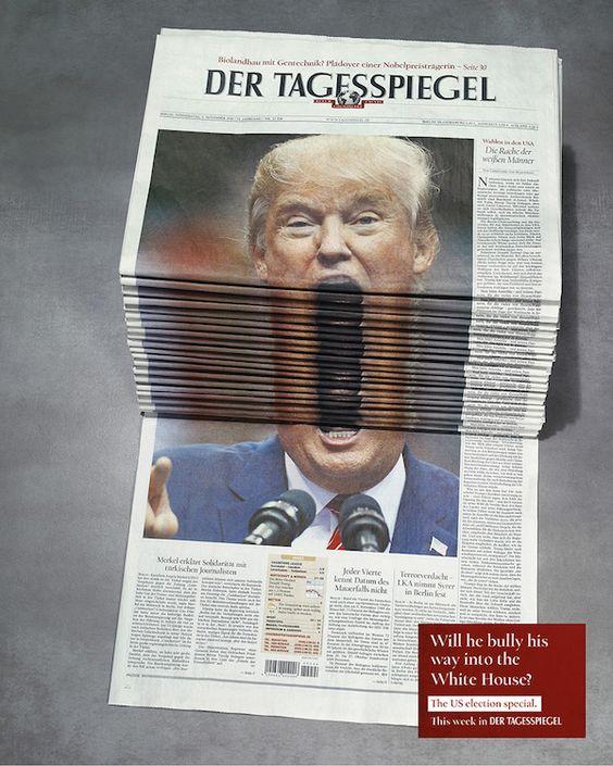 新聞のトランプ大統領