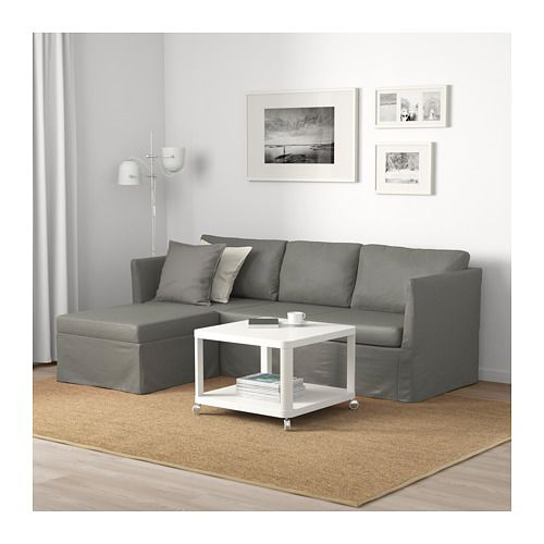 Brathult Sleeper Sectional 3 Seat Borred Gray Green With