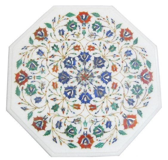 """14""""x14"""" White Marble Coffee Table Top Lapis Stone Mosaic Floral Inlay Decor Arts https://t.co/Z3y7QXAQzb https://t.co/N9cWqqUhBt"""