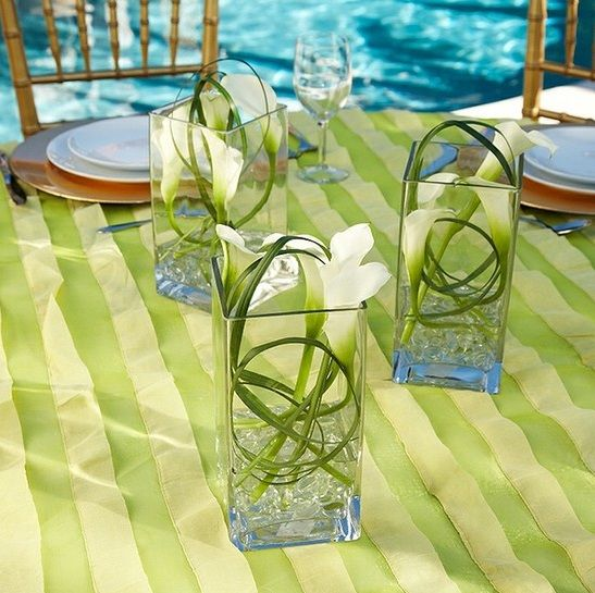 Wedding Centerpiece Ideas Water | ... also make unique and inexpensive vases for calla lily centerpieces