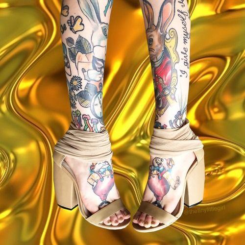 legs tattoo | Tumblr