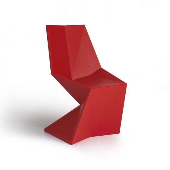 Silla Vondom Vertex roja - Imaginedecó - Tienda online de decoración y hogar