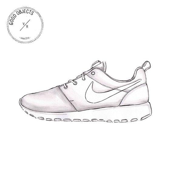 dessin de chaussure nike facile