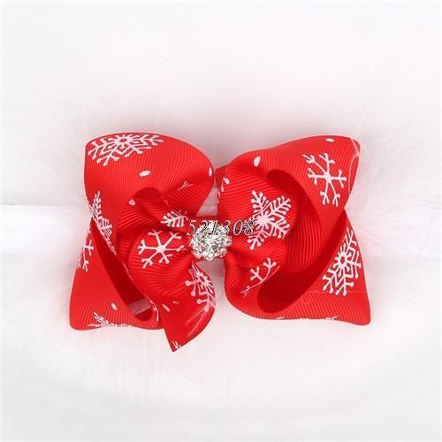 Christmas Baby Girls Toddler Bow Feather Headband Snow Flower Girl Hair Headwear