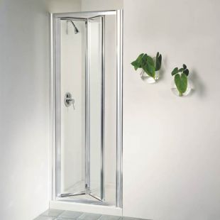 Accordion folding shower doors 16 bi fold shower door for Small baths 1100