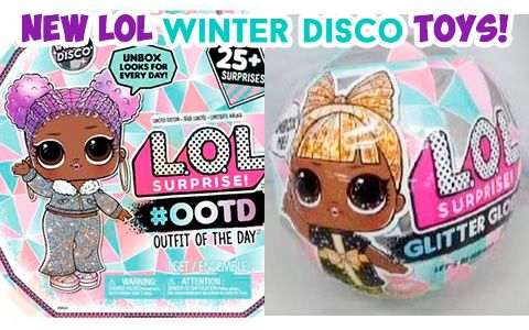4 LOL Surprise Doll Winter Disco Series Glitter Globe Balls Holiday OMG In Hand