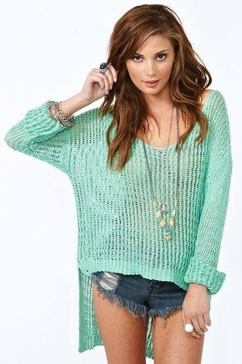 love this breezy knit from nasty gal: Green Sweater, Mint Sweater, Mint Green, Summer Outfit, Knit Sweaters, Green Top, Color, Camden Knit