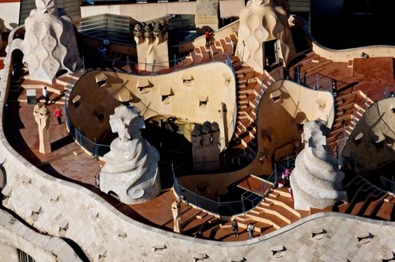 Yann Arthus Bertrand   Casa Milà (La Pedrera) © Antoni Gaudí (UNESCO world heritage site) Barcelona, Spain