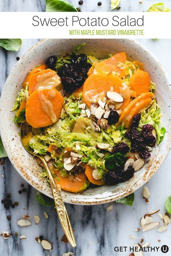 This warm sweet potato salad with maple mustard vinaigrette is so many levels of delicious. Plus, the recipe is paleo, gluten free, dairy free and vegan!