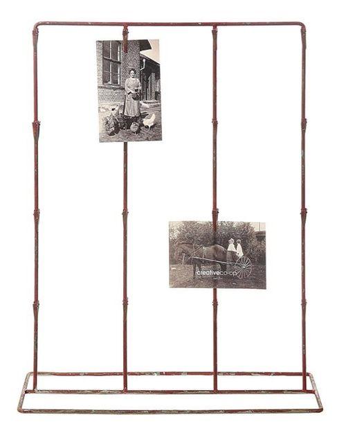 METAL VINTAGE CARD HOLDER W: 32 CLIPS