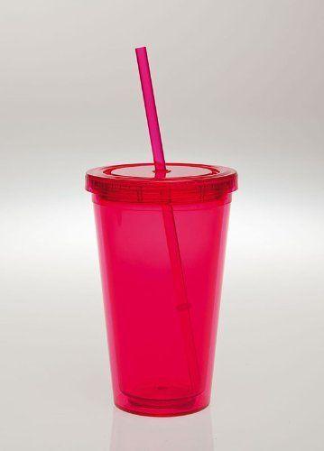 Hot Pink XLG Insulated Cup w/ Straw Evergreen Enterprises, Inc, http://www.amazon.com/dp/B0057PO5W2/ref=cm_sw_r_pi_dp_sFiMpb111WQMS