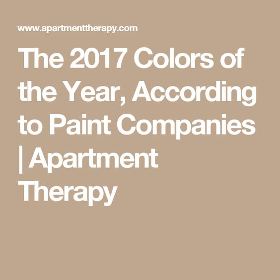 The 2017 Colors of the Year, According to Paint Companies | Apartment Therapy