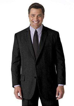 Kings' Court Men's Big & Tall Lightweight Blend Two-Button Suit ...