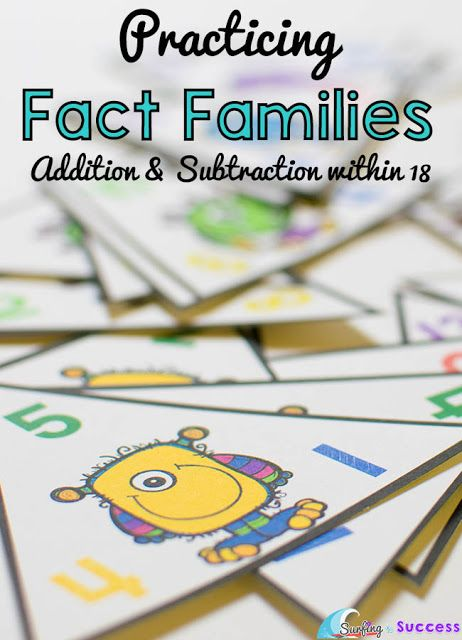 Fact Families Activities And Other On Pinterest
