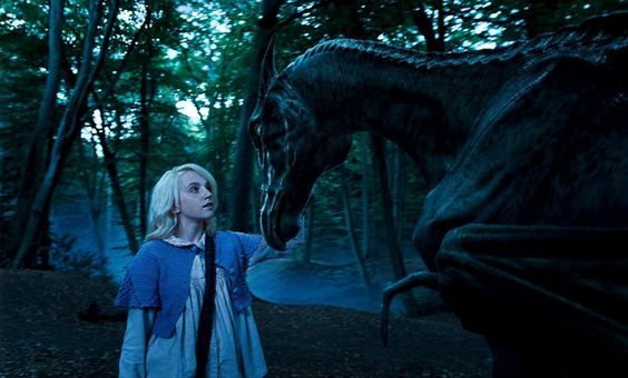 """They're called Thestrals. They're quite gentle, really, but people avoid them because they're a bit…"" - Luna"