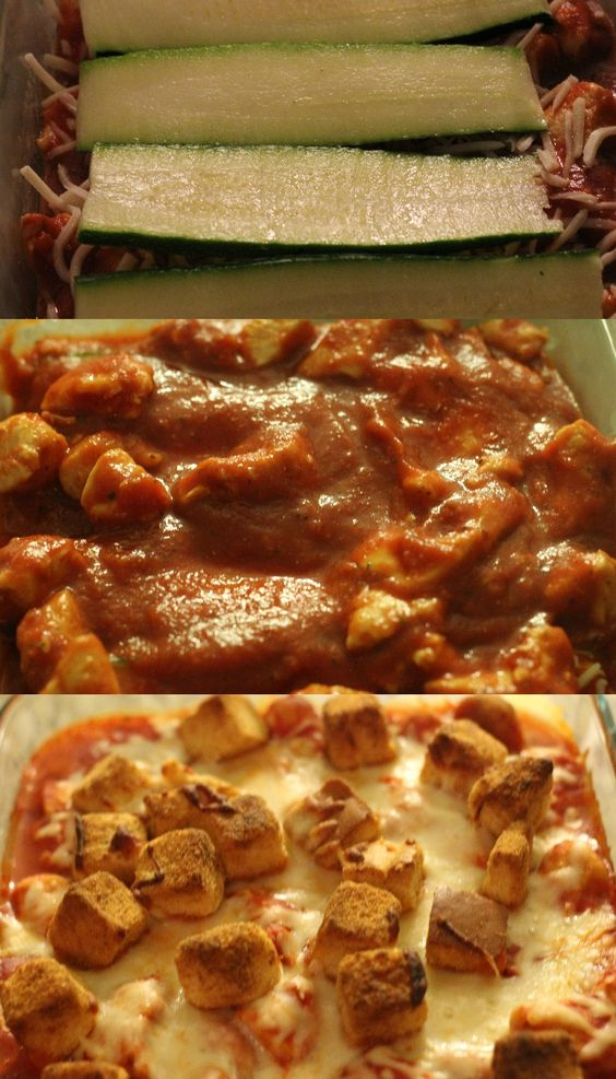Zucchini chicken lasagna crunch recipe delicious easy for Cook something different for dinner