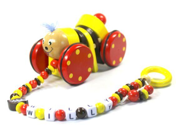 Holzspielzeug - Zieh-Willy mit Namen Nachziehtier - ein Designerstück von…