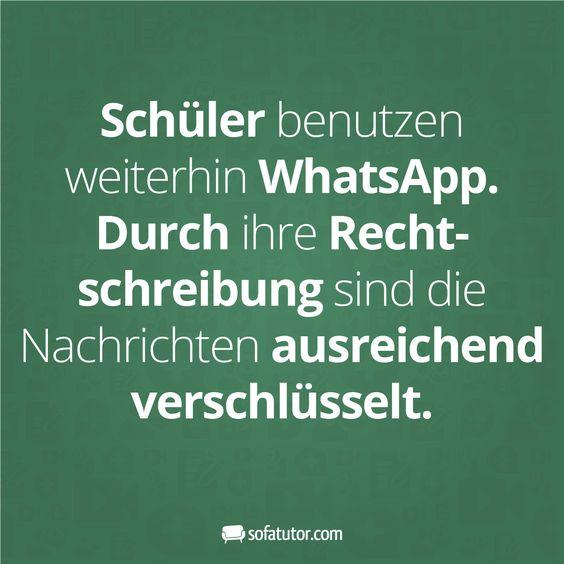 """WhatsApp-Spruch: """"Schüler benutzen weiterhin WhatsApp ..."""