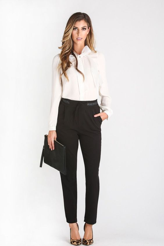 Valerie Black Blouse | Fall staples, Black pants and Business ...