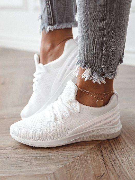 Biale Adidasy Z Siateczki White Sneaker Fashion Shoes