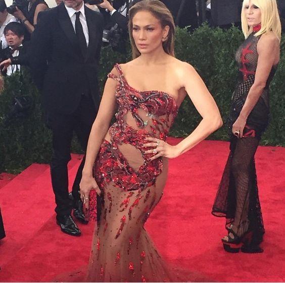 J.lo at the met in Versace best dressed?